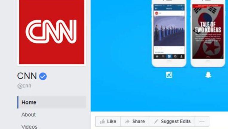 De Facebookpagina van CNN. Beeld Facebookpagina CNN