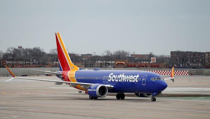 Een Boeing 737 MAX 8 van Southwest Airlines.