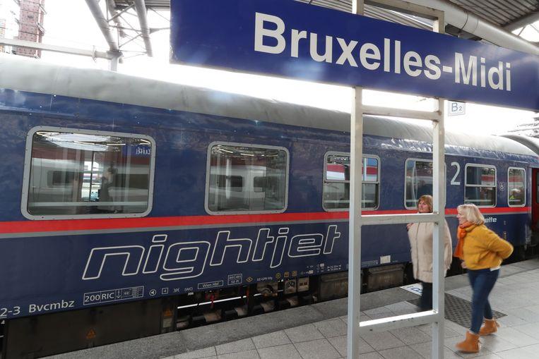 Begin vorig jaar werd er opnieuw een nachtverbinding tussen Brussel en Wenen ingelegd.  Beeld BELGA
