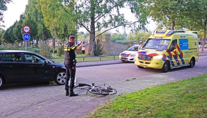 Politie en ambulance kwamen ter plaatse na het ongeval.