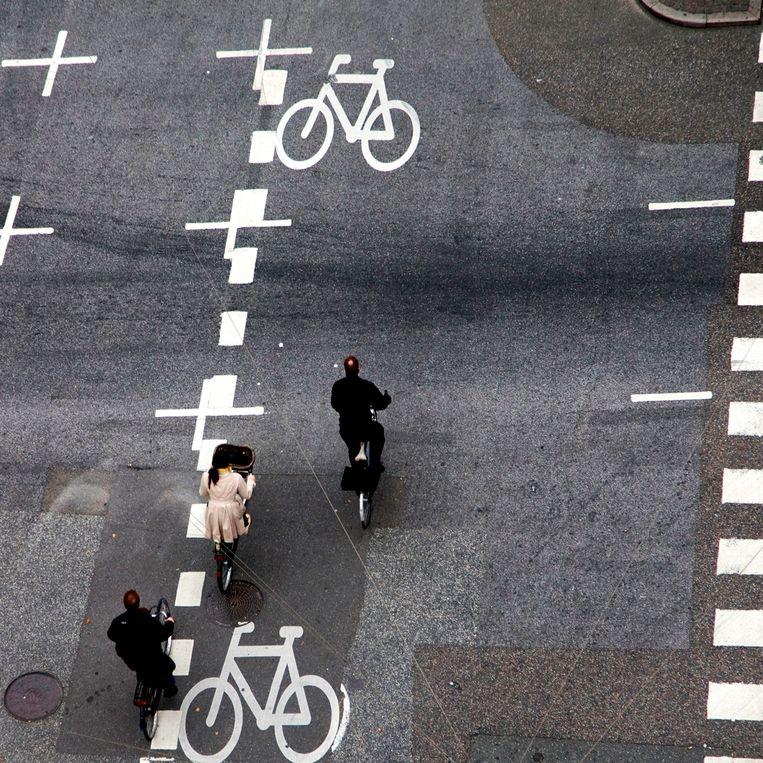 De fietspaden zijn hier zo breed dat je pleinvrees zou krijgen. Beeld Copenhagenize