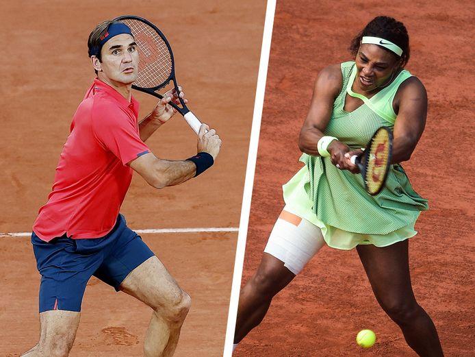 Roger Federer en Serena Williams.