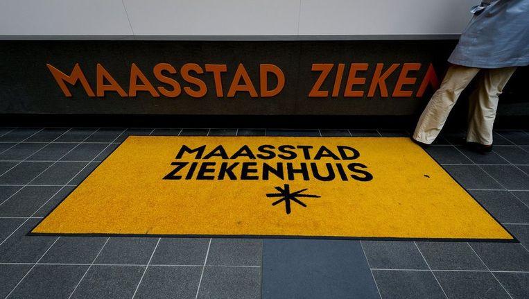De receptie in de hal van het Maasstad Ziekenhuis in Rotterdam Beeld anp