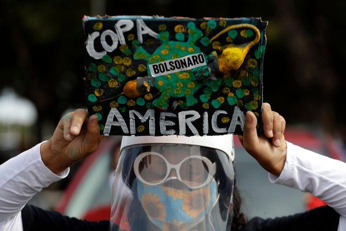 Protesten in Brazilië om de Copa America daar te organiseren.