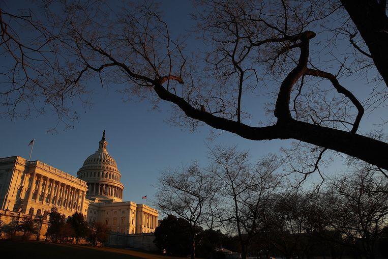 Het Capitoolgebouw in Washington DC, waar het Huis van Afgevaardigden en de Senaat zetelen.