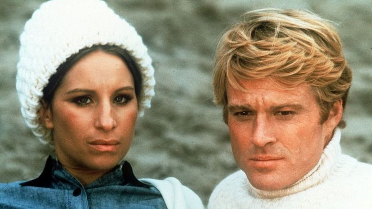Barbra Streisand en Robert Redford in The Way We Were van Sidney Pollack. Beeld