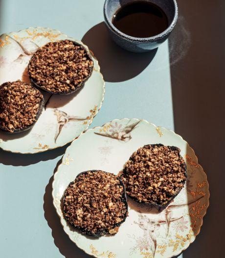 Portobello's met een vijfkruidenkorst uit de oven