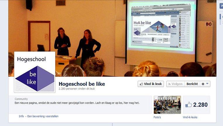 De nieuwe facebookpagina Beeld Screenshot Facebook