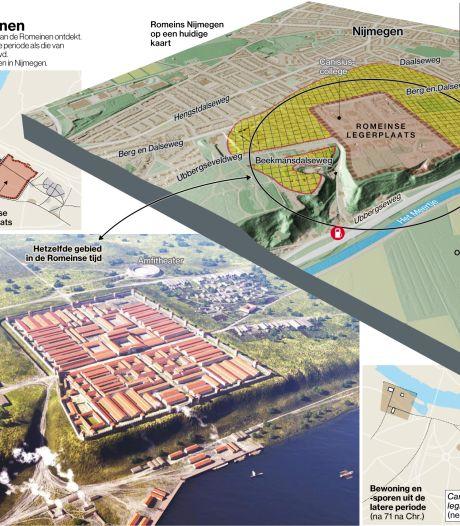 Romeinse soldaten dronken graag een wijntje in Nijmegen-Oost, of was hun voorstad nog groter?