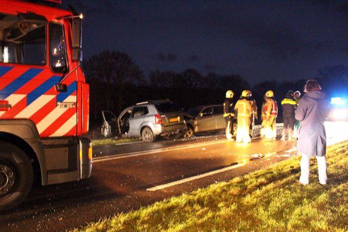 Het ongeval op de N375. Foto: Alex Wever