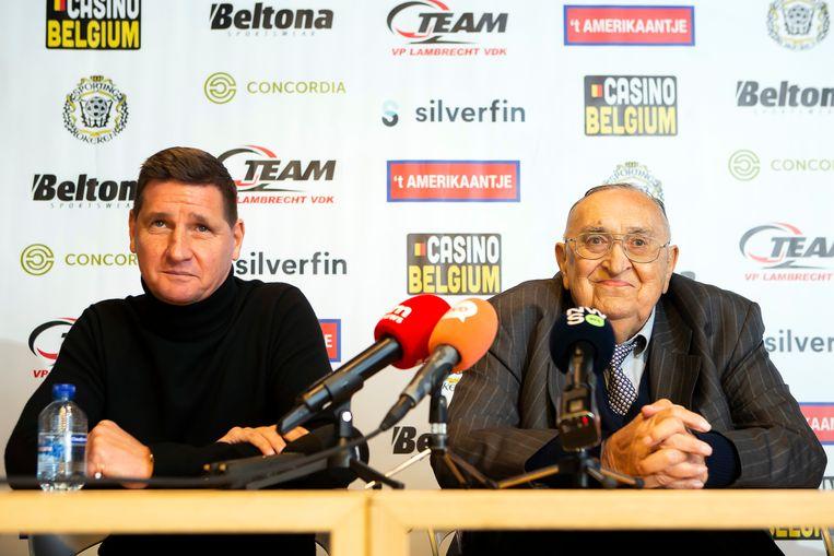 Glen De Boeck en Roger Lambrecht. Beeld BELGA