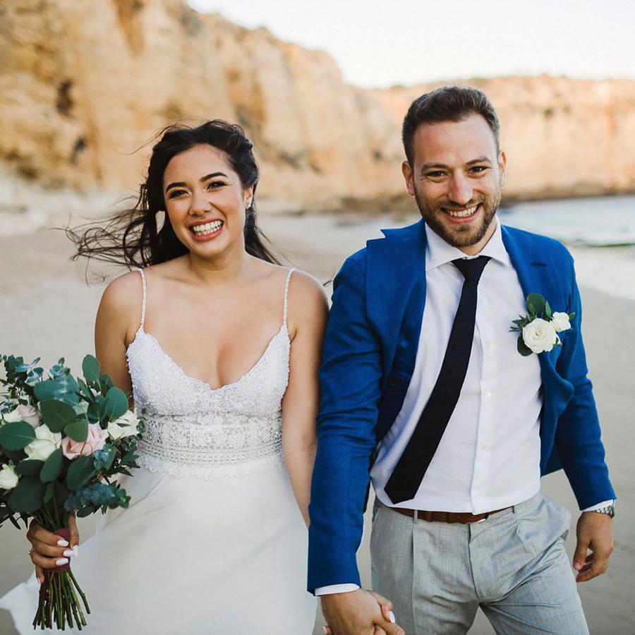 Caroline Crouch met het echtgenoot Babis Anagnostopoulos.