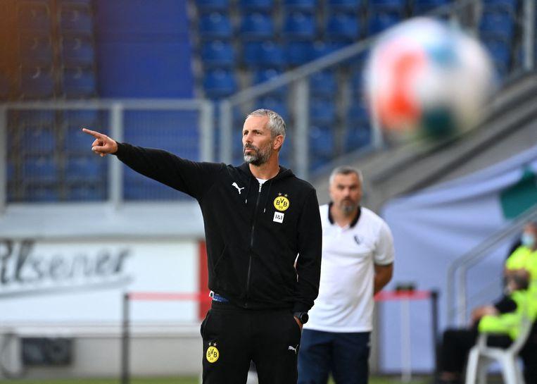 Marco Rose, sinds de zomer de trainer van Borussia Dortmund. Beeld AFP