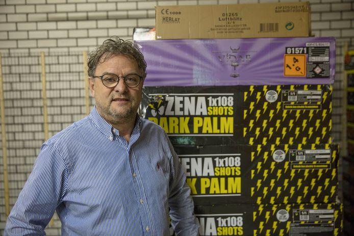 Vuurwerkhandelaar Jan de Wit (El Blanco) in Helmond in 2018.
