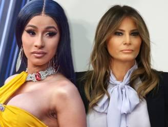 Cardi B ontketent rel met Melania Trump en gooit naaktfoto van first lady online