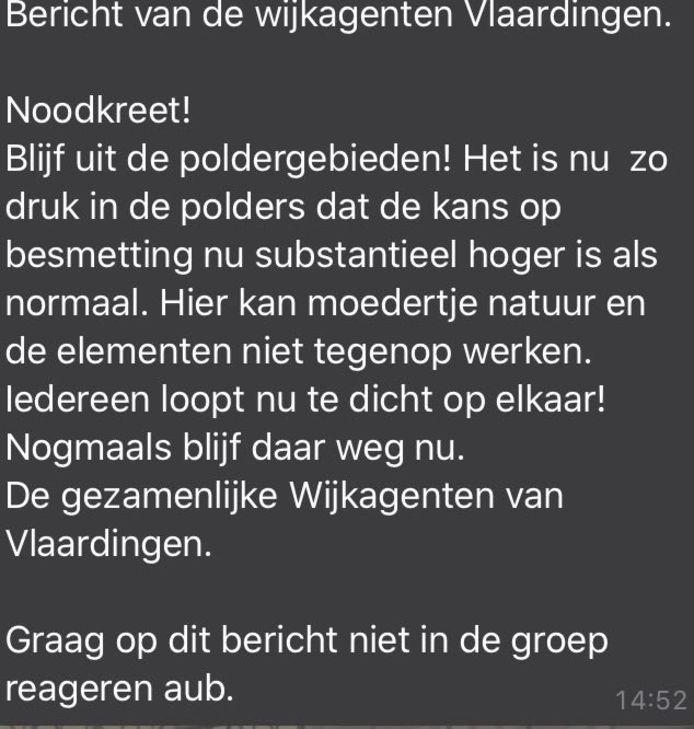 Oproep van Vlaardingse wijkagenten.