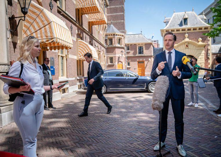 Demissionair minister Hugo de Jonge van volksgezondheid. Beeld ANP