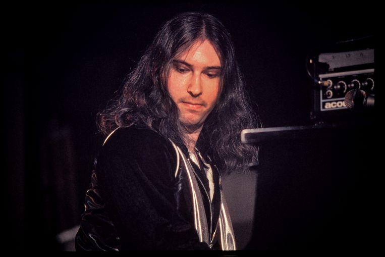 Jim Steinman in 1978, tijdens een optreden met Meat Loaf in Philadelphia.  Beeld Getty Images