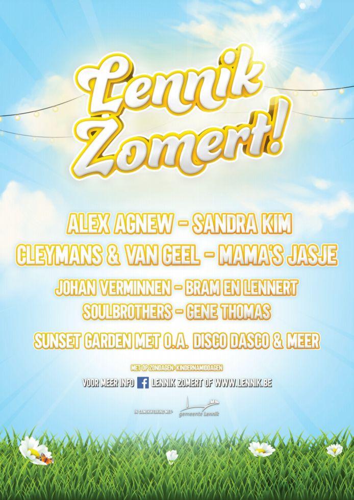 Lennik Zomert wordt 12 weken aan evenementen in de Dekenijtuin