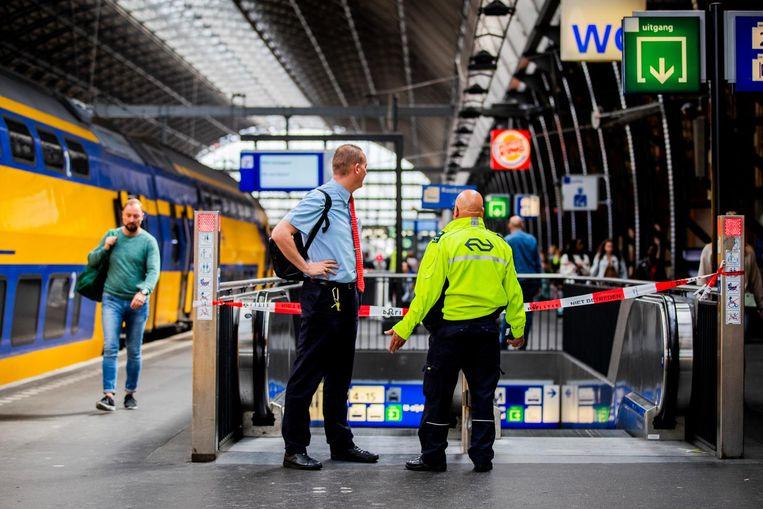 Het treinverkeer werd na twee uur weer hervat Beeld ANP