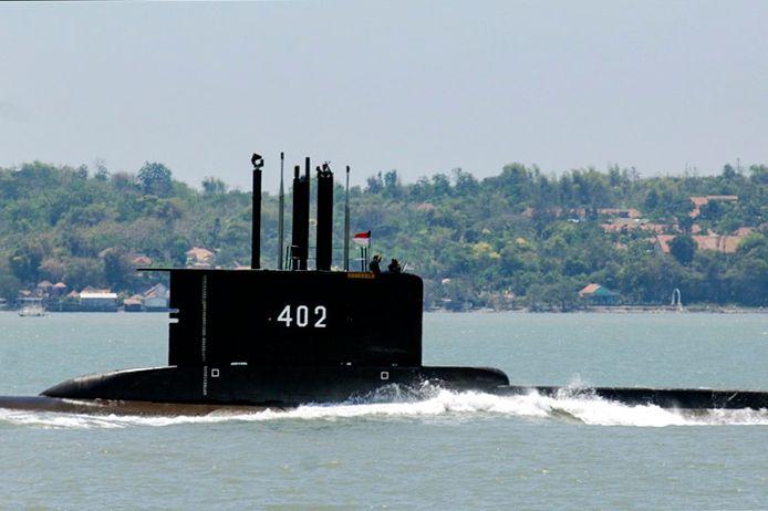 Archiefbeeld van de vermiste duikboot KRI Nanggala-402