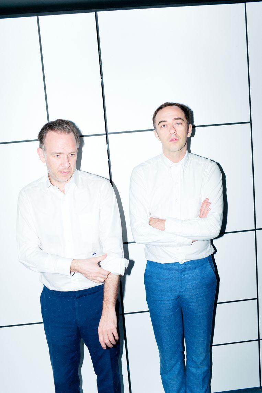 Stephen en David Dewaele – samen Soulwax/2ManyDJs – jureren tijdens Film Fest Gent. Beeld Alex Salinas