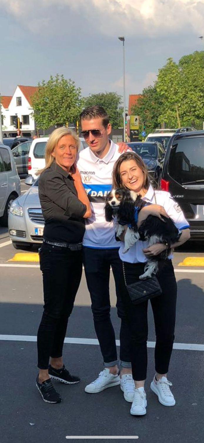 Margit Petrus met Hans Vanaken van Club Brugge: zie hield ook van voetbal.