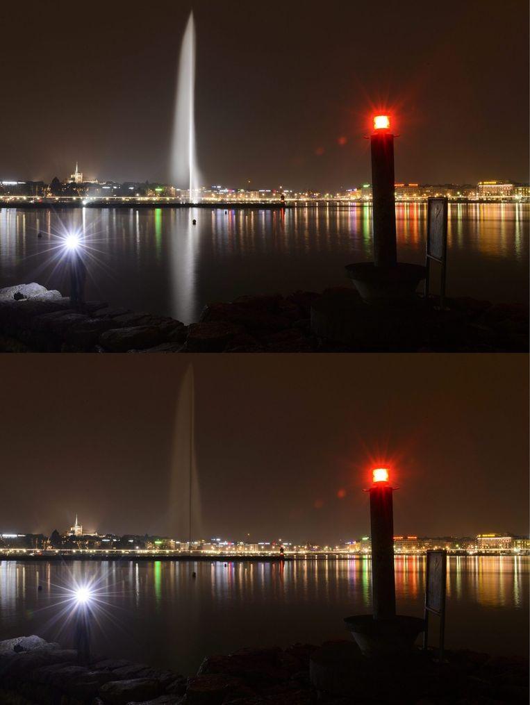 De haven van Geneve. Beeld epa