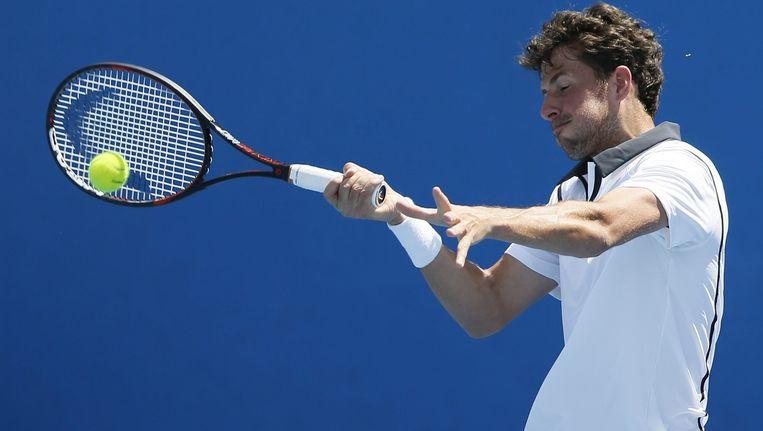 Robin Haase in actie op de Australian Open. Beeld EPA