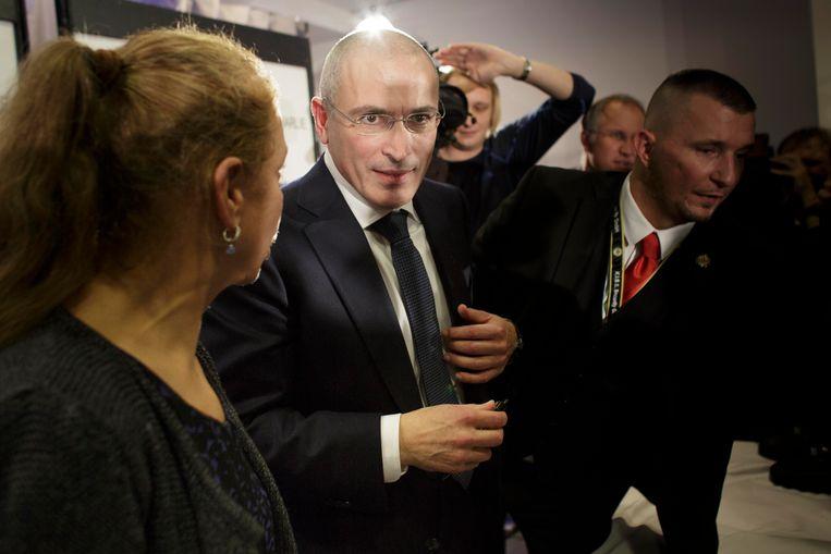 Michaïl Chodorkovski, de eigenaar van Yukos, werd in 2013 onverwachts gratie verleend, daarna vertrok hij meteen naar Duitsland en nu verblijft hij in Zwitserland. Beeld Getty Images