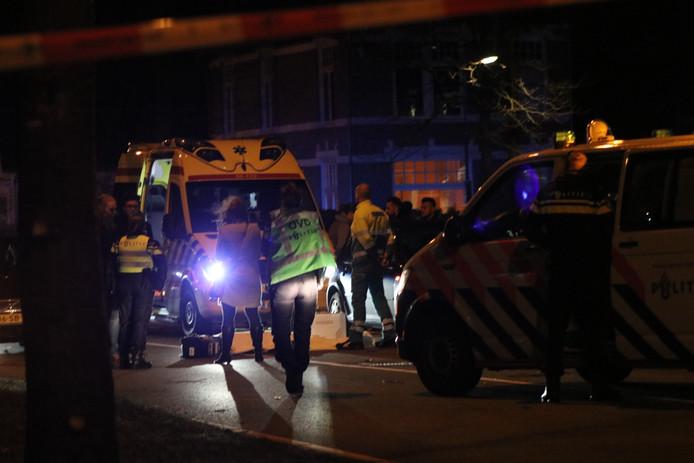 Het ongeval op de Europaweg in Apeldoorn.