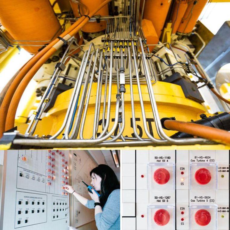 De winning van gas uit het Snøhvitveld wordt gemonitord in de installatie op Melkøya. Beeld General Electric/Finn Beales