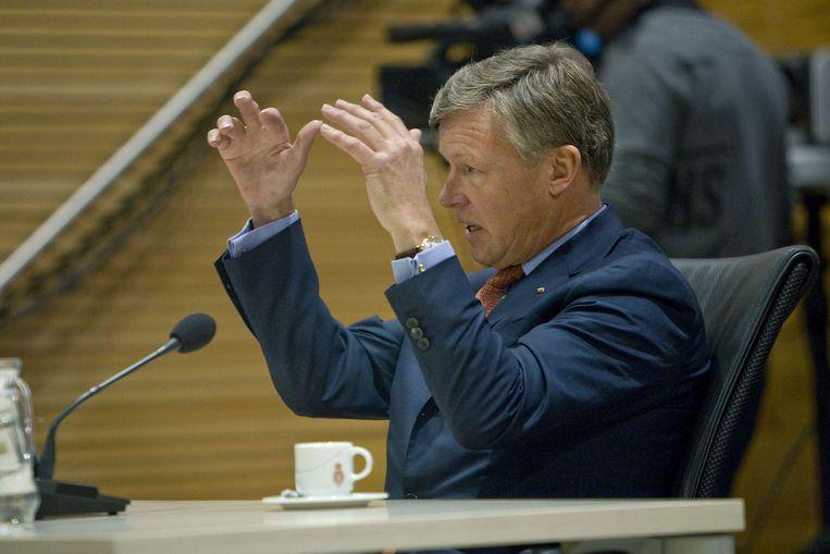 Rijkman Groenink toen hij gehoord werd door de parlementaire commissie De Wit. Beeld anp