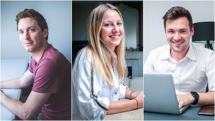 Wynton Van Leuvenhaege, Alyssa Faes en Askel Vermassen zetten alledrie tijdens de coronacrisis hun eerste stappen op de beurs.