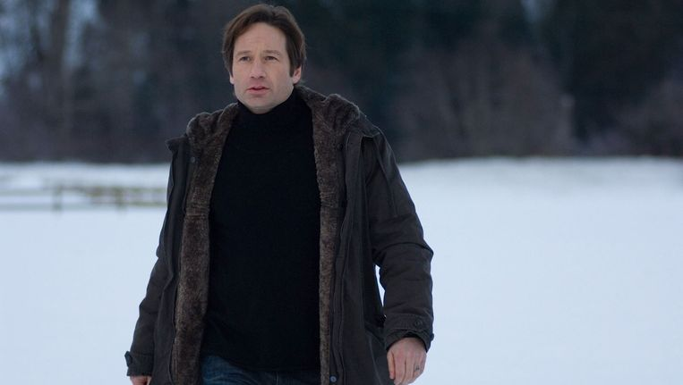 David Duchovny (Fox Mulder) in de film The X-Files: I Want to Believe.