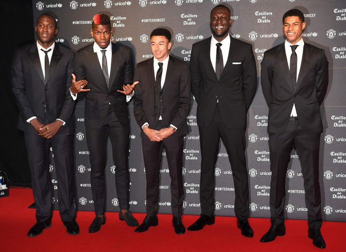 Romelu Lukaku, Paul Pogba, Jesse Lingard, Stormzy and Marcus Rashford.