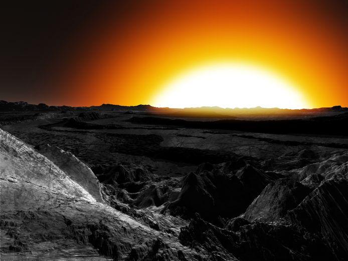 Een artistieke impressie van superaarde 55 Cancri e.