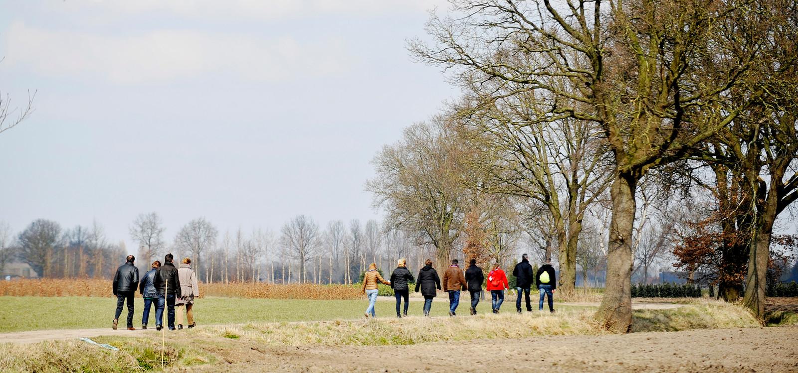 'Heel Haaren Wandelt' in 2013 door het buitengebied.