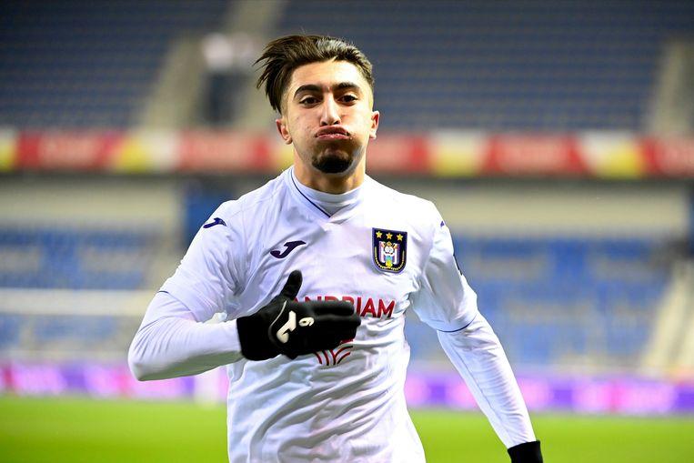Anouar Ait El Hadj scoorde de beslissende goal. Beeld Photo News