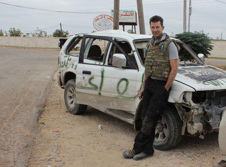 John Cantlie op een foto genomen in 2012, vlak voordat hij ontvoerd werd. Beeld ap