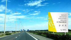 Hilariteit over spelfout op simulatie toeristisch bord Vlaanderen