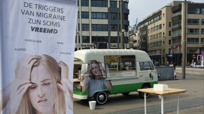 """'Foodtruck' tegen migraine houdt halt op Groenplaats: """"Let op, kaas en chocolade kunnen aanval triggeren"""""""