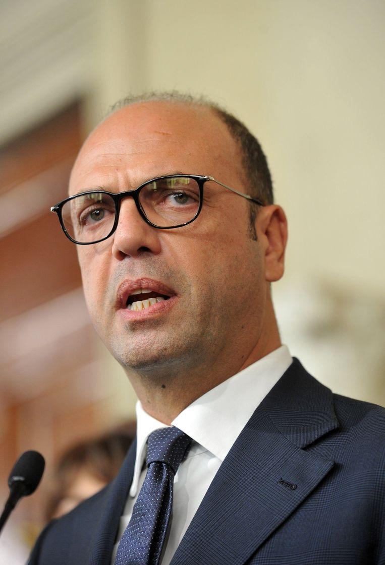 De nieuwe minister van Binnenlandse Zaken Angelino Alfano Beeld Photo News