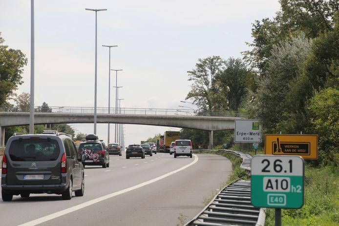 De camera's zijn nog steeds niet terug op de brug vlakbij de afrit van de E40 in Erpe-Mere.
