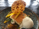 Samenspel van zuur, zoet, aards en fris bij de cheesecake van mango