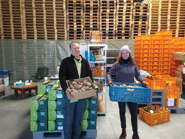 PTS Mechelen doneert 750 kg groenten aan mensen in nood.