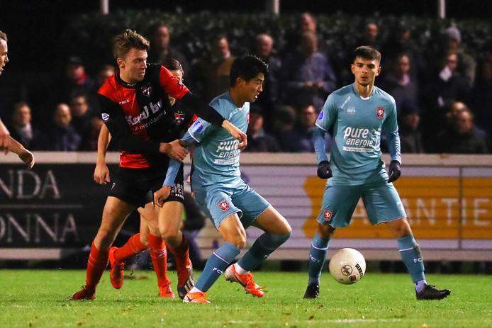 Keito Nakamura was met zijn twee treffers de man van de wedstrijd bij FC Twente.