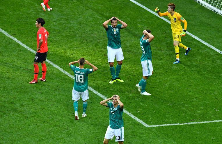 Ongeloof bij de Duitsers. Beeld Photo News