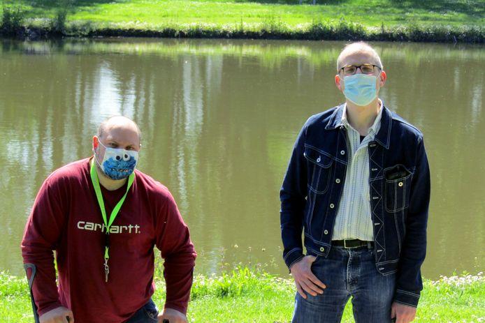 Schepen van leefmilieu Bart Dusart  en gemeenteraadslid Nicolas Bollion zetten hun schouders onder de ontwikkeling van een gemeentelijk hemelwaterplan.