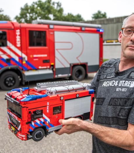 Model Zaamslagse tankautospuit in Lego echter dan echt, 'dit is onbetaalbaar'